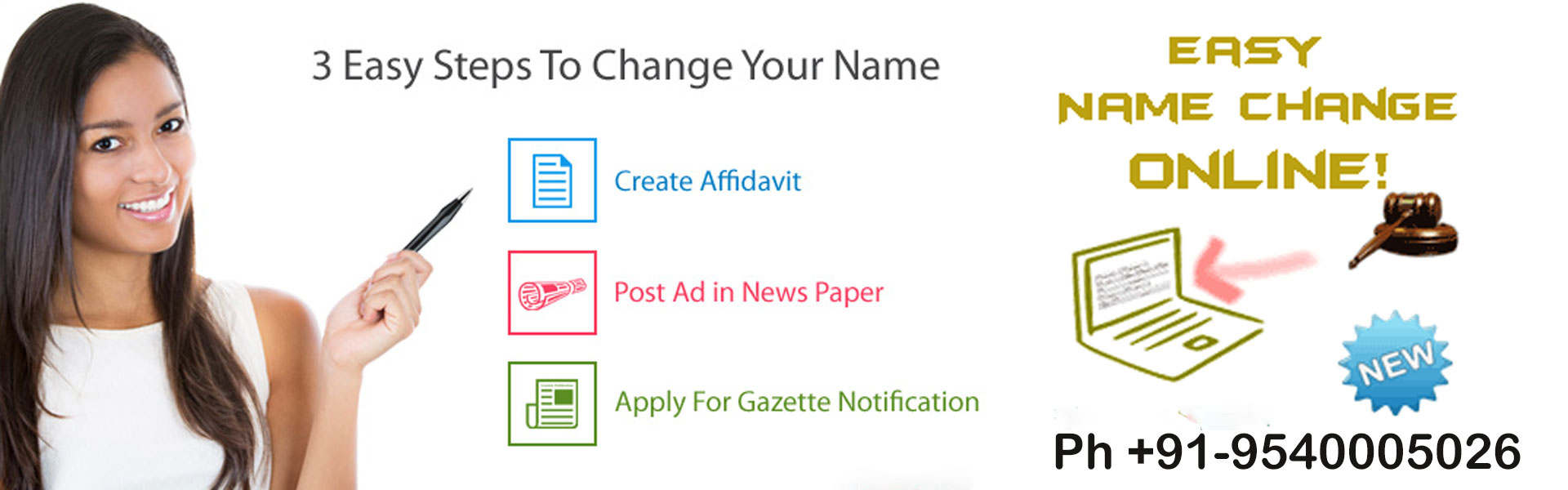 Name Change Online | Name Change In Gazette | Name Change Affidavit
